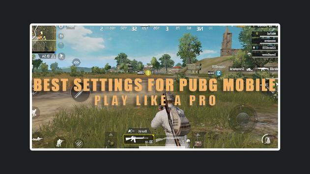 settings for Pubg Mobile - sensitivity & Control screenshot 1