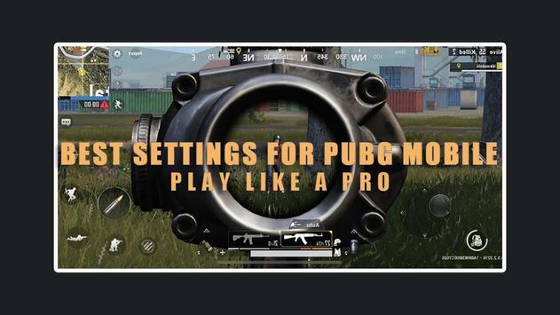 settings for Pubg Mobile - sensitivity & Control screenshot 2