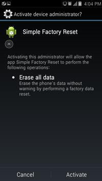 Simple Factory Phone Reset screenshot 2