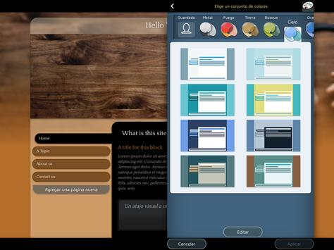 Website Builder para Android captura de pantalla 11