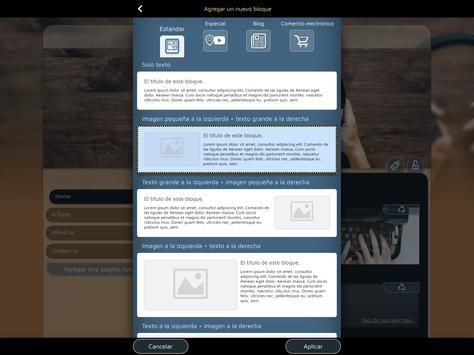 Website Builder para Android captura de pantalla 14
