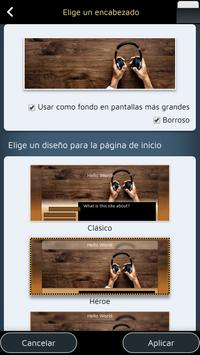 Website Builder para Android captura de pantalla 2