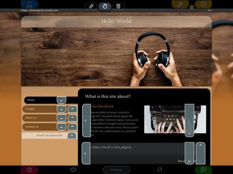 Website Builder para Android captura de pantalla 8