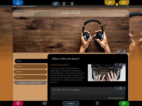 Website Builder para Android captura de pantalla 9