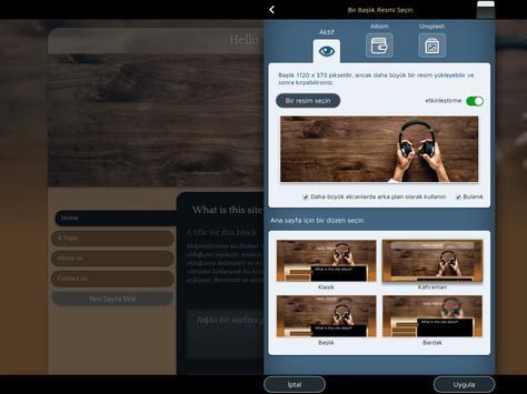 Android için Web Sitesi Oluşturucu Ekran Görüntüsü 10