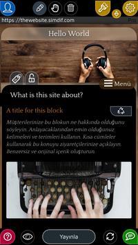 Android için Web Sitesi Oluşturucu Ekran Görüntüsü 1