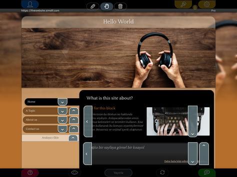 Android için Web Sitesi Oluşturucu Ekran Görüntüsü 8