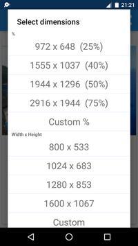 Redimensionador de Imagens - Photo Resizer imagem de tela 2