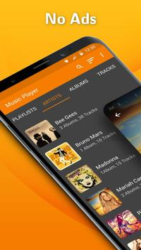Simple Music Player: MP3 player, no ads, widget poster