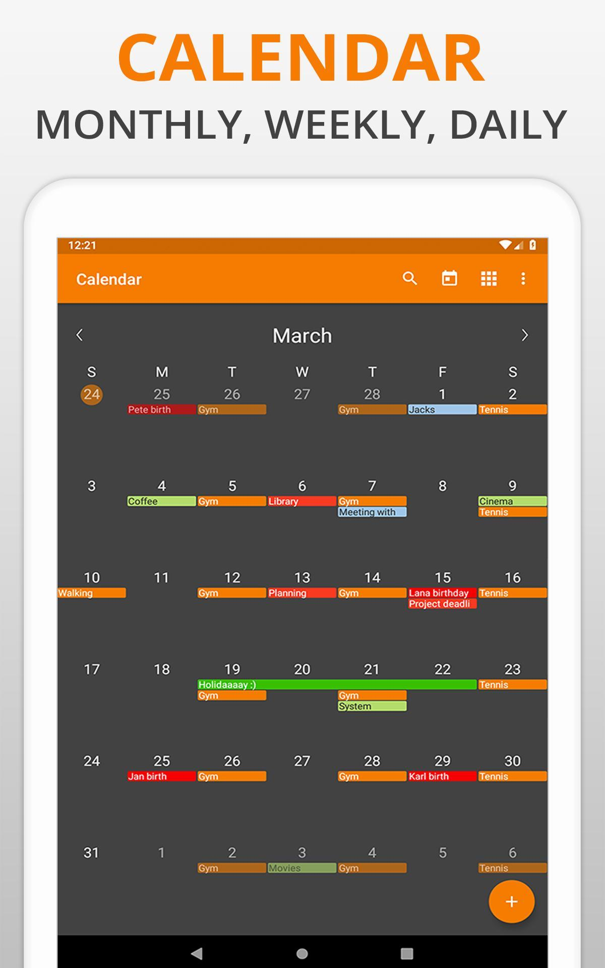 Simple Calendar Pro - Events & Reminders for Android - APK Download