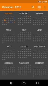 Simple Calendar screenshot 2