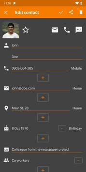 Simple Contacts screenshot 1