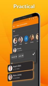 Mensajero SMS Simple: aplicación mensajería texto captura de pantalla 2