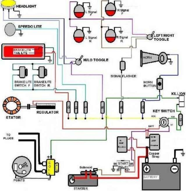 Simple Motorcycle Wiring Diagram For Android Apk Download