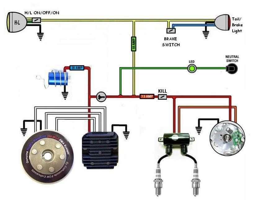 Basic Motorcycle Wiring Diagram from image.winudf.com
