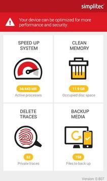 simpli Clean Mobile  - BOOSTER & CLEANER Ekran Görüntüsü 1