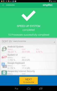 simpli Clean Mobile  - BOOSTER & CLEANER Ekran Görüntüsü 3