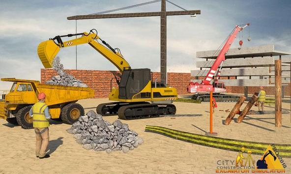 City Construction Excavator Simulator poster