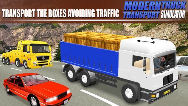 Modern Truck Transport Simulator تصوير الشاشة 1