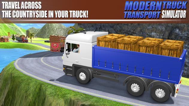 Modern Truck Transport Simulator تصوير الشاشة 6