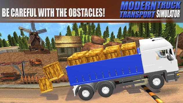 Modern Truck Transport Simulator تصوير الشاشة 8