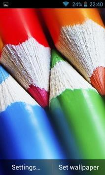 Wooden, Wonderful, Colored Pencils. HD screenshot 4