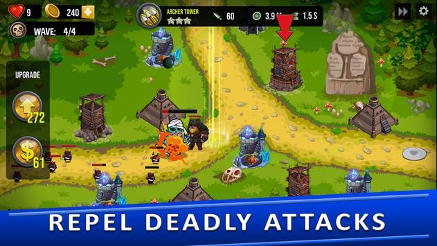 Tower Defense Games - GOLDEN LEGEND captura de pantalla 10