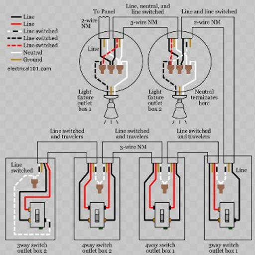 on wiring diagrams light switch