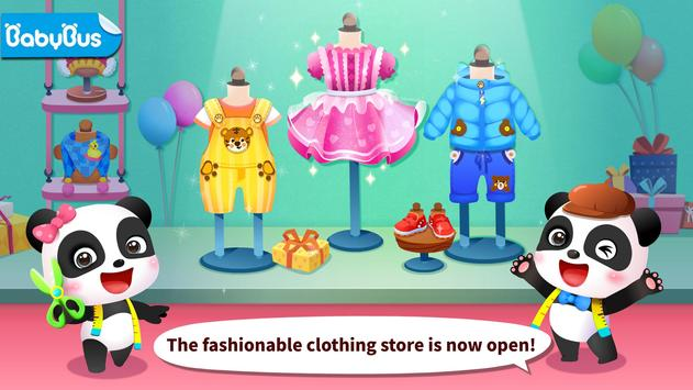 Juego para vestirse a la moda del Panda bebé Poster