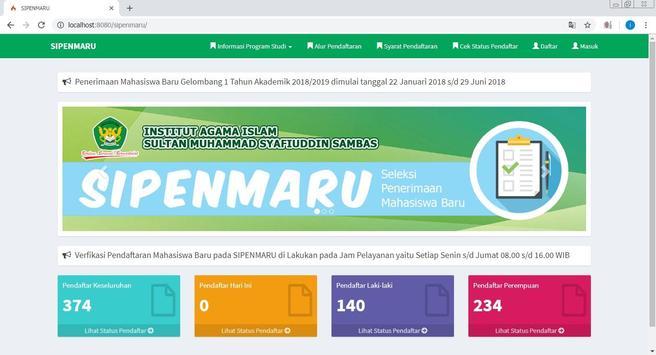 PMB IAIS Sambas screenshot 2