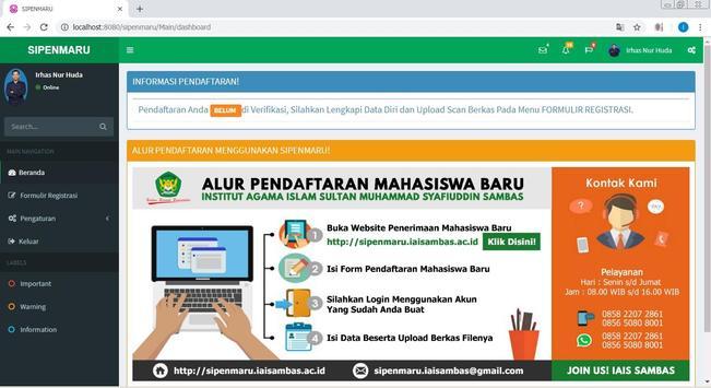 PMB IAIS Sambas screenshot 4