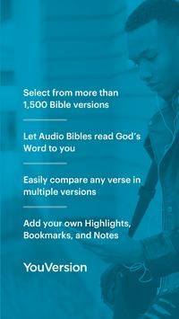 YouVersion Bible App + Audio, Daily Verse, Ad Free poster