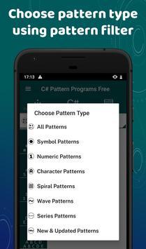 C# Pattern Programs Free screenshot 1