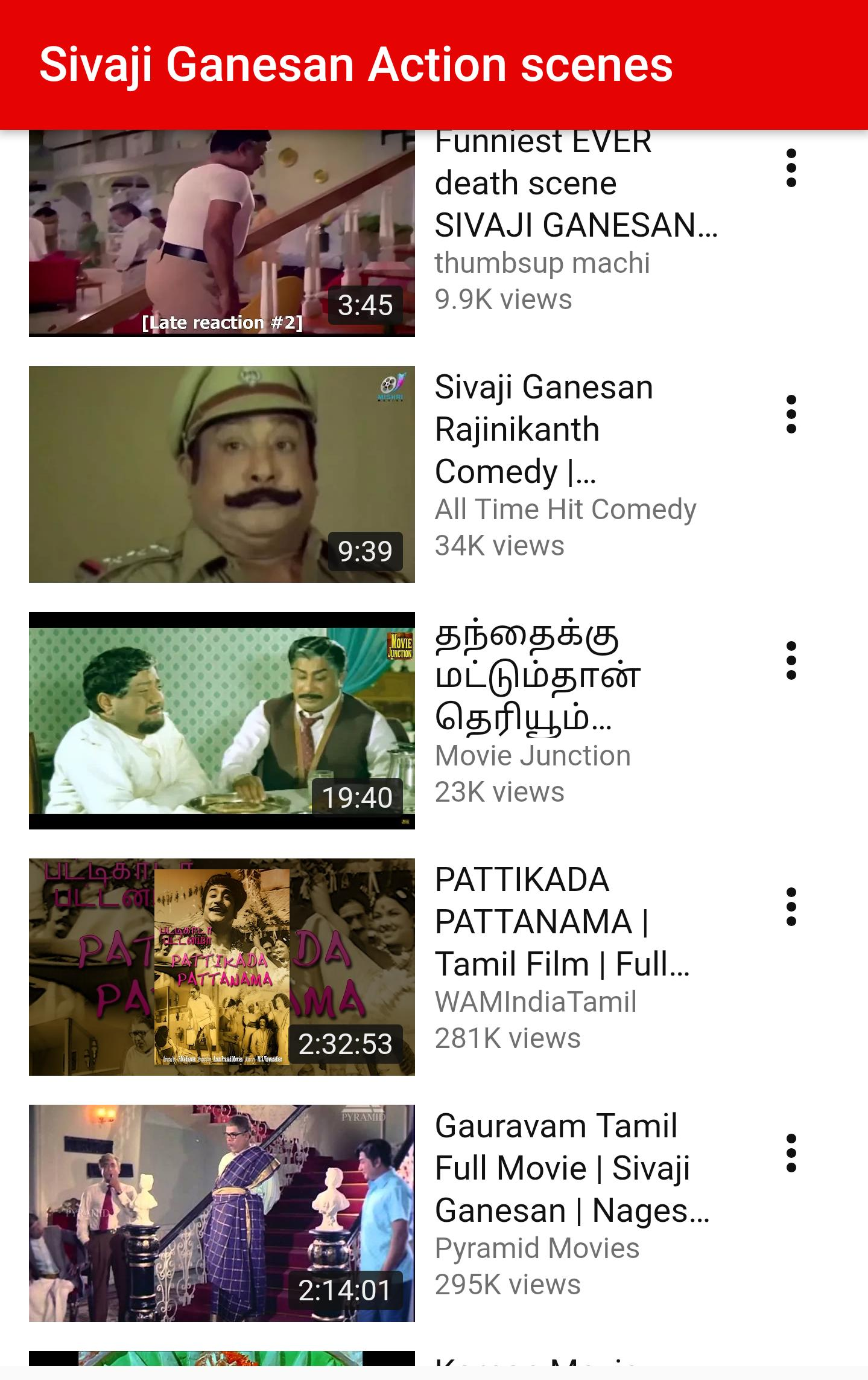 Sivaji Ganesan Videos - hit songs and Movies for Android