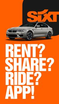 SIXT rent. share. ride. 海報