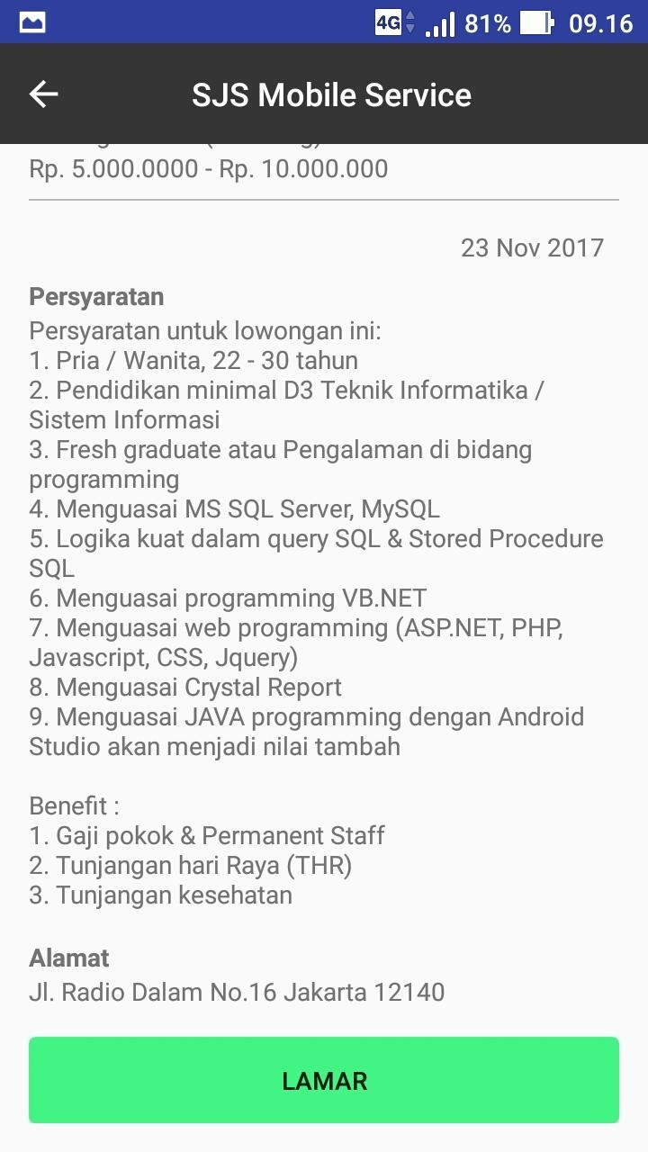 SJS Service for Android - APK Download