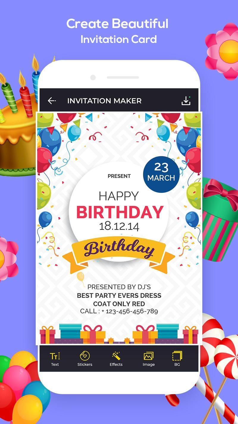Invitation Maker Greeting Card Maker Rsvp For Android