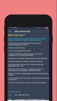 Karmanya Classes : Best Coaching Classes In NCR! screenshot 4