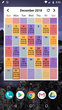 Shift Calendar imagem de tela 3