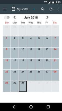 Shift Calendar Cartaz
