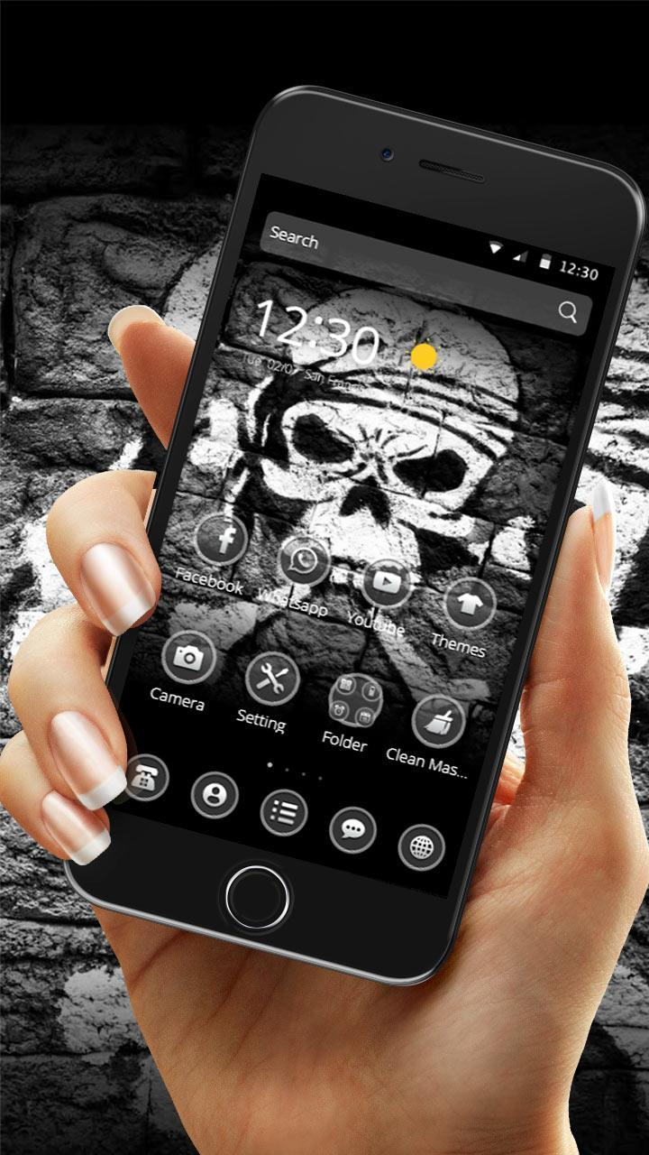 Tema Sketsa Salib Tengkorak For Android APK Download