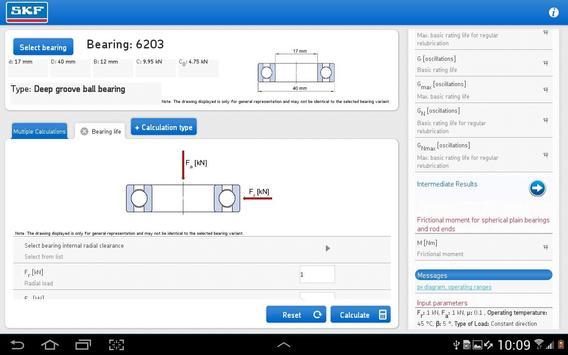 SKF Bearing Calculator Screenshot 10