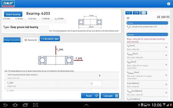 SKF Bearing Calculator Screenshot 8