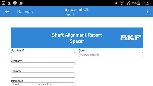 SKF Spacer shaft alignment screenshot 3