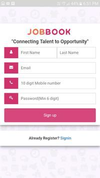 Jobbook Candidate screenshot 1