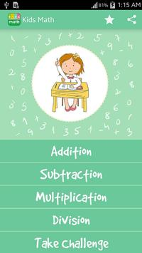 Kids Math - Game for Kids poster