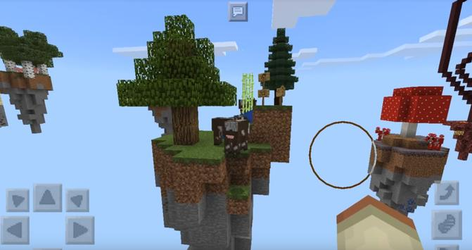 Skyblock map for MCPE - MCPE map Craft your island poster