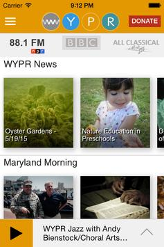 WYPR screenshot 1