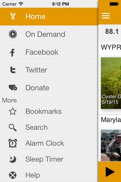 WYPR screenshot 2