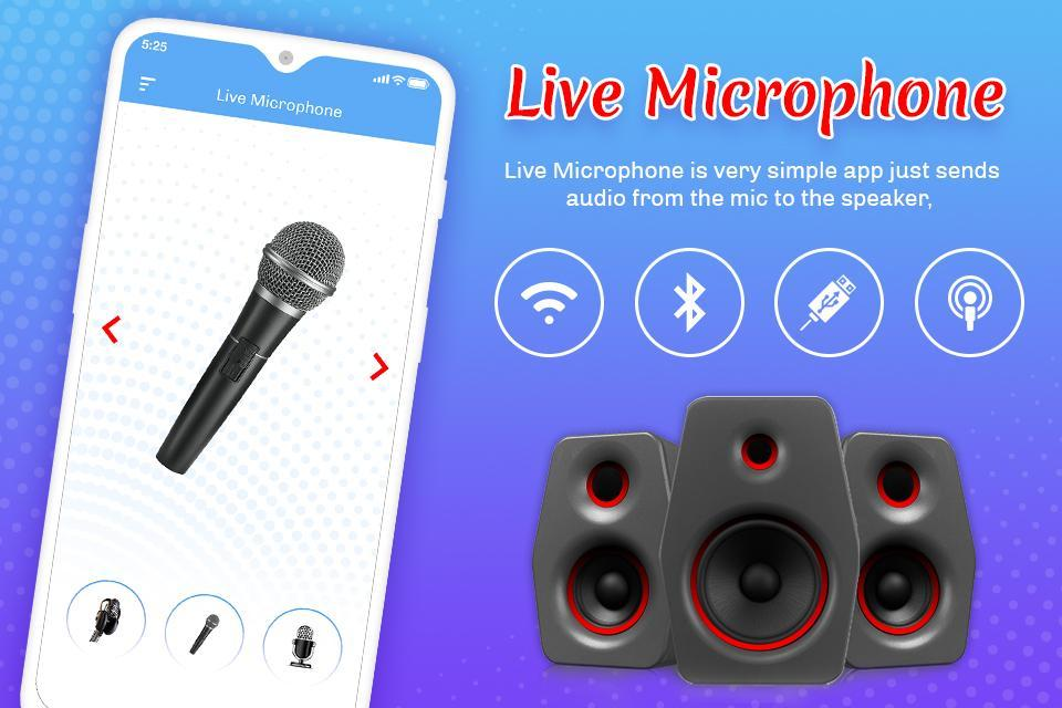 Live Phone Microphone – Mic Announcement & Speaker for